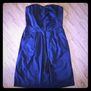 The Limited navy blue strapless dress with pockets